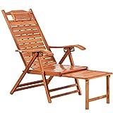 HUIFANG Haushalt Bambus Recliner Klappstuhl Liegestuhl Ältere Stuhl Mittagspause Bambus Stuhl Siesta Stuhl Bambus Stuhl
