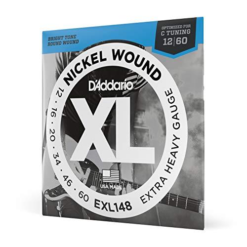 D'Addario EXL148 Cuerdas con Entorchado En Níquel para Guitarra Eléctrica, Plateado, Extra...