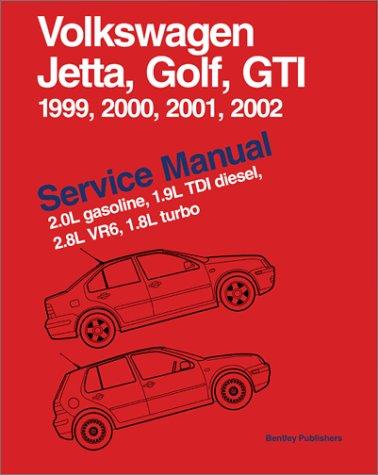 Volkswagen Jetta, Golf, Gti, 1999, 2000, 2001, 2002: Service Manual, 2.0L Gasoline, 1.9L Tdi Diesel, 2.8L Vr6, 1.8L Turbo : A4 Platform