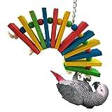 Colorido madera juguete para Parrot Budgies pájaros periquito Cockatiels Conure Amazon jaula juguete
