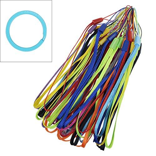 rip Lanyard Strap String Bulk für USB-Stick, Schlüssel, Schlüsselanhänger, ID Namensschild, Namensschild Halter, Selfie Stick, MP3-Player, Kamera, verschiedene Farben 50 Pcs Assorted Colors (Bulk-taschenlampen)