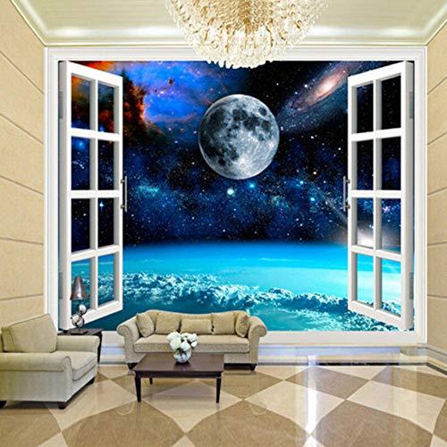 Tapete Wandbild 3D Vision Gefrorener Planet Vlies Wandaufkleber Für Schlafzimmer Wohnzimmer Küchen Wandkunst Dekoration Poster 350x245cm (Kuchen Disney Gefrorene)