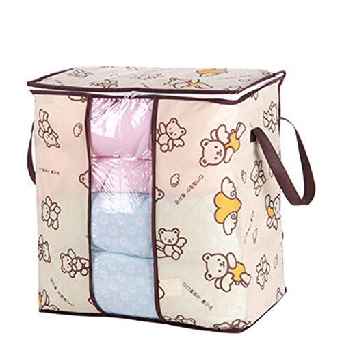 TuToy Faltdable Non-Woven Quilt Bag Große Comforter Clothes Lagerung Taschen Container Decken Organizer W/Handle-Fenster - B