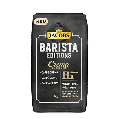 Jacobs Barista Editions Crema, Kaffee Ganze Bohne, 1er Pack (1 x 1100 g) (Machine Bean)