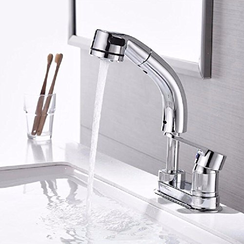 YSRBath Moderne Waschbecken Waschtischarmatur Antike Ausziehbett Heißen und Kalten Lift Ausziehbare Leiter Mischbatterie Bad Küche Wasserhahn Badarmatur