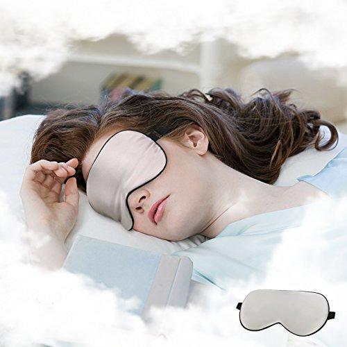 Paitree - Antifaz para dormir para mujer, 100% seda natural