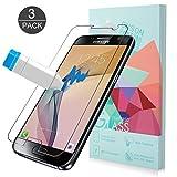 Samsung Galaxy S7 Panzerglas Schutzfolie, ONSON® [3 Stück] Displayschutzfolie für Galaxy S7 Panzerfolie Displayschutz Gehärtetem Glass 9H Härtegrad, Anti-Kratzen, Einfaches Anbringen