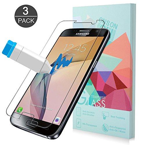 [3-Unidades]Protector de pantalla Galaxy S7, ONSON® Cristal Vidrio Templado Premium Para Samsung...