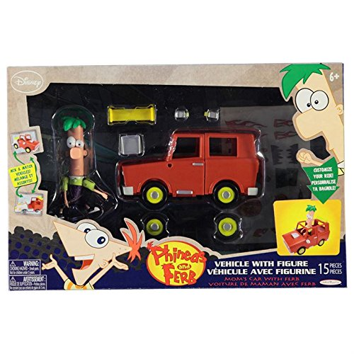 Disney Phineas and Ferb Vehicle with figure