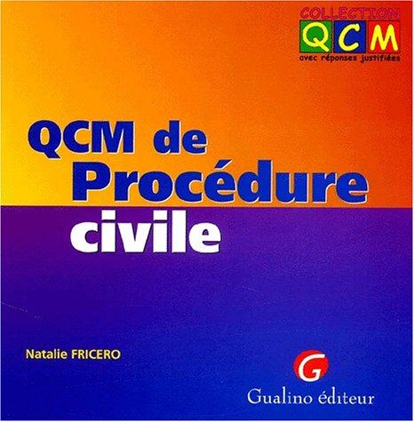 QCM de Procédure civile par Natalie Fricero
