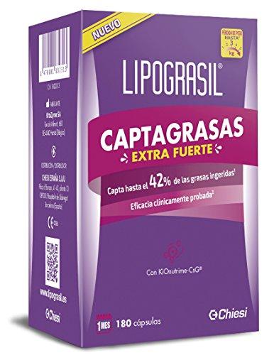 Lipograsil Captagrasas Extra fuerte - Producto sanitario para el tratamiento del sobrepeso y la obesidad - 180 cápsulas
