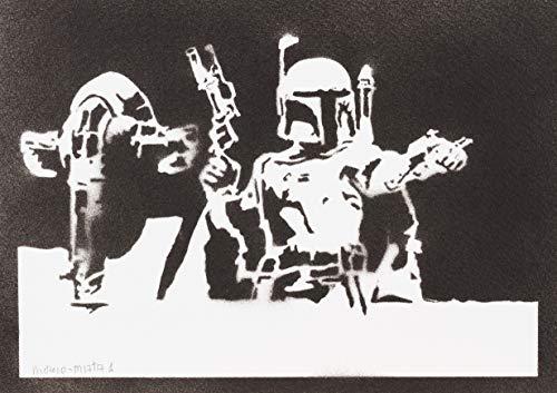 Póster Boba Fett Esclavo I STAR WARS Grafiti Hecho A Mano - Handmade Street Art - Artwork