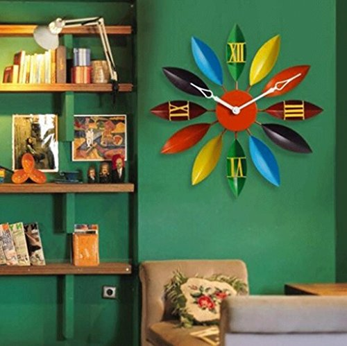 RXL-Zeit der Wand Persönlichkeit Wanduhr Wohnzimmer Moderne Einfache Kreative Kunst Retro Hause Schlafzimmer Hängetisch (Farbe : B) - Grau-wand-kunst Teal