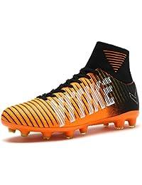 ASHION Niños Botas de fútbol para niños profesionales Zapatos de fútbol al aire libre Zapatillas de deporte Niños Muchachas Zapatillas de fútbol