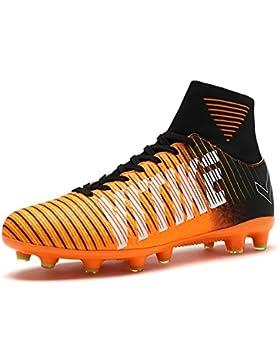 [Patrocinado]VITIKE Chicos SG botas de fútbol de tierra suave botas de cuero de fútbol