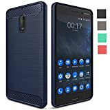 Nokia 6 Back Cover Case [Chevron Official], Heavy Duty Shock Proof TPU Case for Nokia 6 Mobile Premium Protection, Metallic Blue by Chevron