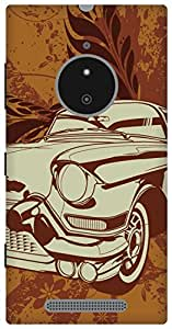 The Racoon Grip vintage ride hard plastic printed back case / cover for Nokia Lumia 830