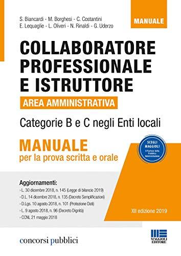 Collaboratore professionale e istruttore. Area
