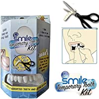 OYOTRIC Instant Smile Teeth Teeth Whitening Denture Cosmetic Teeth - Aesthetic Dentistry Snap On Smile Instant Smile Comfort Fit Flex Cosmetic Denture Teeth Care One Size Fits More Comfortable (B)