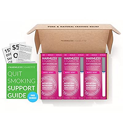 Harmless Cigarette Quit Smoking Aid / Natural Habit Replacement / Stop Smoking Remedy To Help You Quit Smoking Fast & Easy. Now Better Than Nicotine Patches, Nicotine Gum & Lozenges. from Harmless Products Company