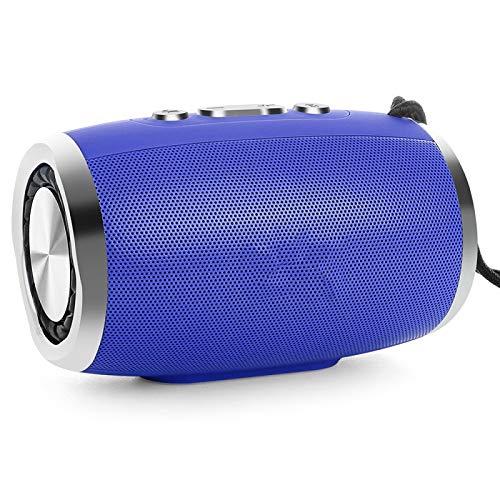 feicahnghao SpeakerTOPROAD HiFi Tragbarer drahtloser Bluetooth-Lautsprecher Stereo Column Boombox Subwoofer-Lautsprecher Unterstützung FM Radio TF AUX USB für Telefone, Grau spea