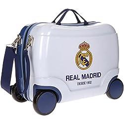 Real Madrid Futbol Time Equipaje Infantil, 41 cm, 25 Litros, Blanco