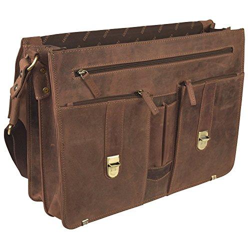 1c3b80f0ad Greenburry Vintage cartella portadocumenti con compartimenti portatile  pelle 40 cm brown