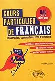 COURS PARTICULIER DE FRANÇAIS. BAC SECONDE ET PREMIÈRES TOUTES SÉRIES