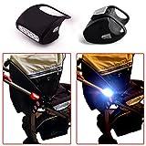Kinderwagenlicht 7 LED Weiß Wasserdicht Qualitätsarbeit Schwarz Silikon Doppelpack Kinderwagen Licht Fahrradlampe Kinderwagenbeleuchtung Top Idee
