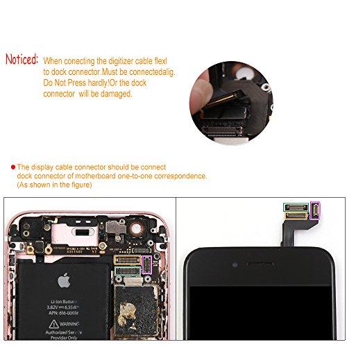 bb059bf9e65 Pantalla táctil LCD de repuesto para iPhone 6S Plus de Ibaye, con marco  digitalizador, conjunto completo de ensamblaje, incluye herramientas (5,5  pulgadas).