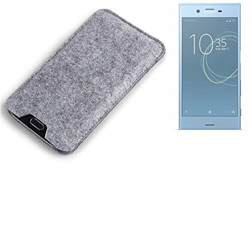 K-S-Trade Filz Schutz Hülle für Sony Xperia XZs Dual SIM Schutzhülle Filztasche Filz Tasche Case Sleeve Handyhülle Filzhülle grau