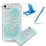 Coque iPhone SE Rigide, Herzzer Transparent Bling Paillettes Étoiles Case 3D...