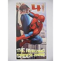 Spiderman Age 4 Birthday Card