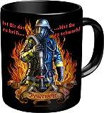 Feuerwehr Ist dir zu heiß - Spruch Tasse - Keramik Tasse in Geschenkbox - Grösse 8,5 H9,5cm