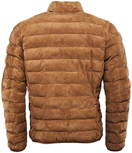 Parajumpers Ernie Suede Lederjacke fällt eine nummer größer aus, regular fit Braun