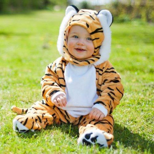 Travis - costume da tigre per neonato/bambino piccolo, morbido e peloso, per bambini di 3-6 mesi