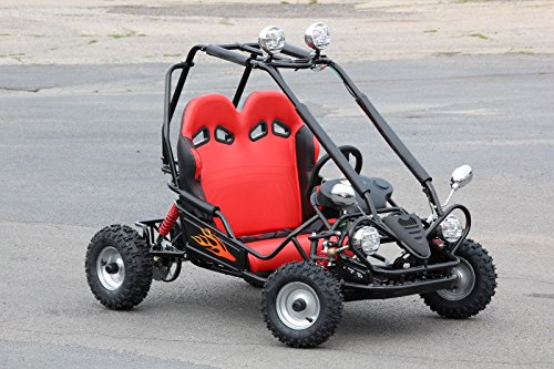MINI POCKET KINDER BUGGY 50CCM 4-TAKT MOTOR 2-SITZER KINDERBUGGY GO KART QUAD