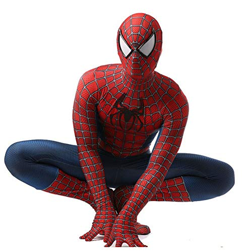 DSFGHE Klassische Spiderman Kostüm Cosplay EIN Stück Halloween Kostüm Dreieck Spiderman Brille Phantasie Dress Party Leistung Kostüm,Adult-XL (Adult Kostüm Zu Machen)