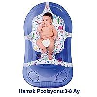 Sevi Bebe Desenli Çok Fonksiyonlu Bebek Banyo Filesi & Minderi, Çok Renkli