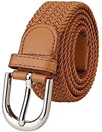 ZORO Stretchable braided cotton belt for men and women,flexible unisex belt