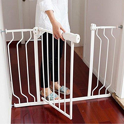 Barrière de sécurité Portes De Sécurité D'intérieur Montées Par Pression De Porte De Bébé Extra-large Pour L'escalier De Couloir De Porte D'escalier Blanc Facile 74-194cm (taille : 110-122CM)