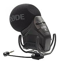 Rode Pro Rycote Microfono a Condensatore Stereo X/Y con Supporto, Nero