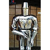 nautique Mart médiéval Crusader Templar Full Suit Armour Wearable Costume d'Halloween avec Bouclier et Javelin