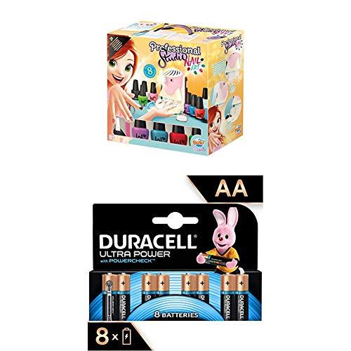 Buki Lot 5404 - Professional Studio Nail Art + Duracell Ultra Power Piles Alcalines Type AA, 8 Piles