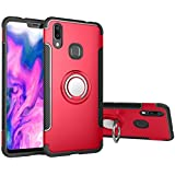 Vivo X21 Case, BeFunky [Armor] TPU + PC Hybrid Dual Layer 360 Degree Rotating Finger Ring Holder and Magnet Car Holder Case Cover for Vivo X21 (Red)