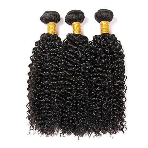 Clarolair extension di capelli ricci naturale brasiliano capelli brasiliano ricci capelli umani ricci capelli veri ricci naturali 300g total (12 14 16 pollici)
