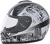 ROADSTAR Integral-Helm Revolution , Dekor Skyline weiß Größe XL