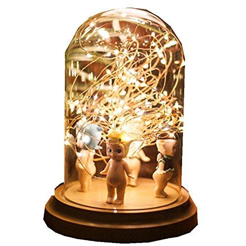 FWEF vetro regalo fuoco albero argento fiore notte di metà autunno LED luce decorativa lampada USB luce ambiente luce stelle Comodino lampada da tavolo 16 * 20 * 12,5 cm