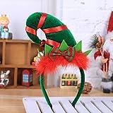 sunnymi Hot Bandeau de Noël Père Noël Ornement fête Décor Double tête Fermoir Bandeau Cheveux Créoles