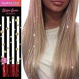 Rubinrot glitzernde Haarsträhnen - HAIR DAZZLE (100 strands) Sommer, Zubehör für Festival-Haare für Mädchen, glitzernde Haarverlängerung, Bälle, Glitzer-Partys
